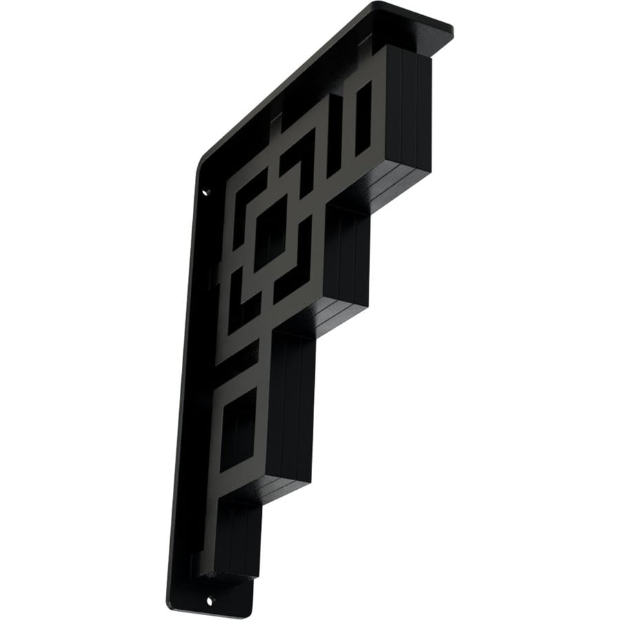 Ekena Millwork Eris 10-in x 2-in x 7.5-in Black Countertop Support Bracket