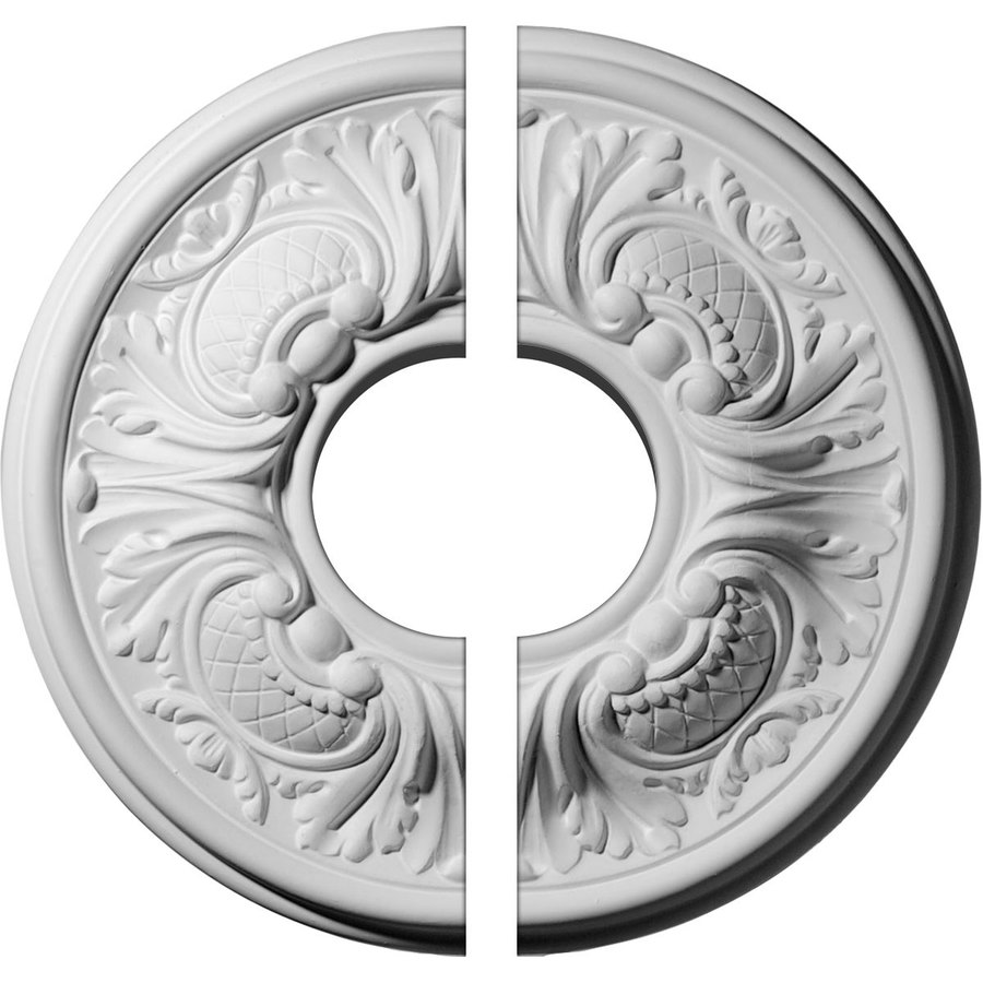 Ekena Millwork Wakefield 11.75-in x 11.75-in Urethane Ceiling Medallion
