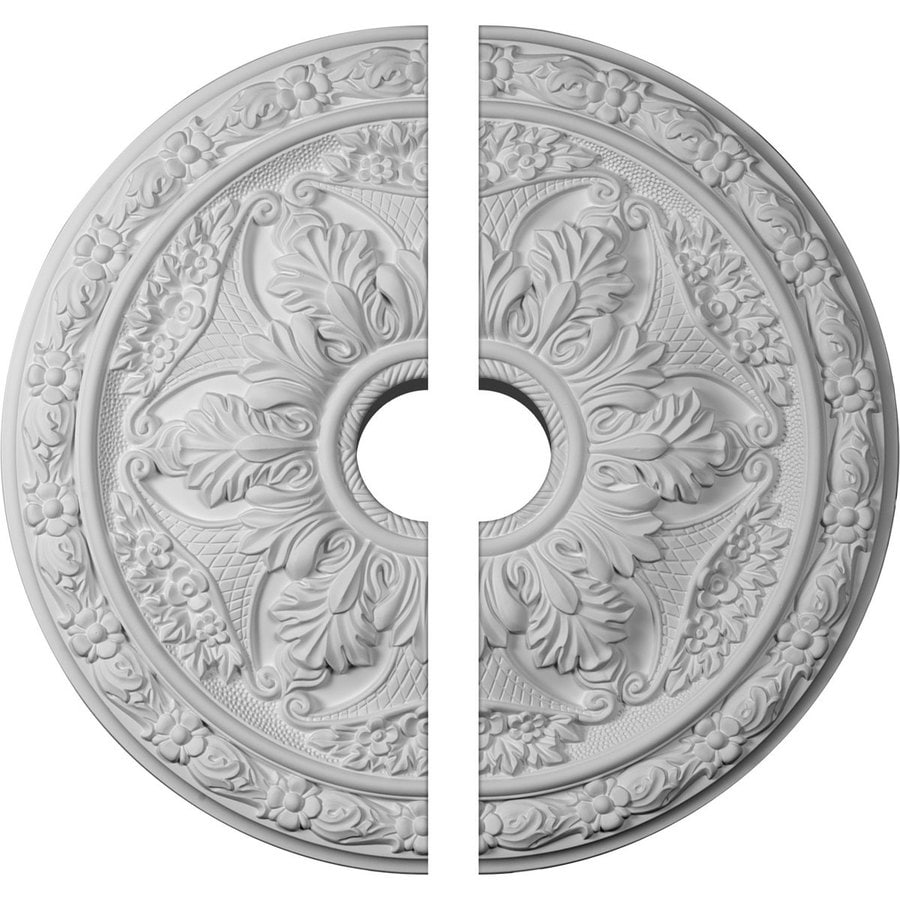 Ekena Millwork Baile 20-in x 20-in Urethane Ceiling Medallion
