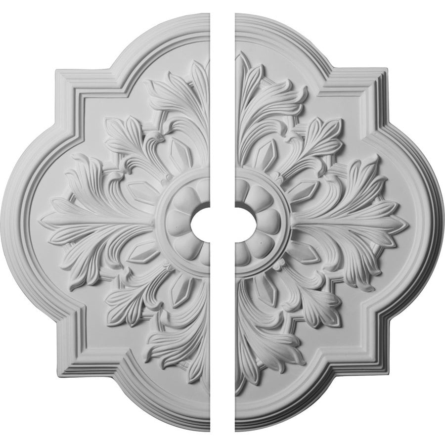 Ekena Millwork Bonetti 20-in x 20-in Urethane Ceiling Medallion