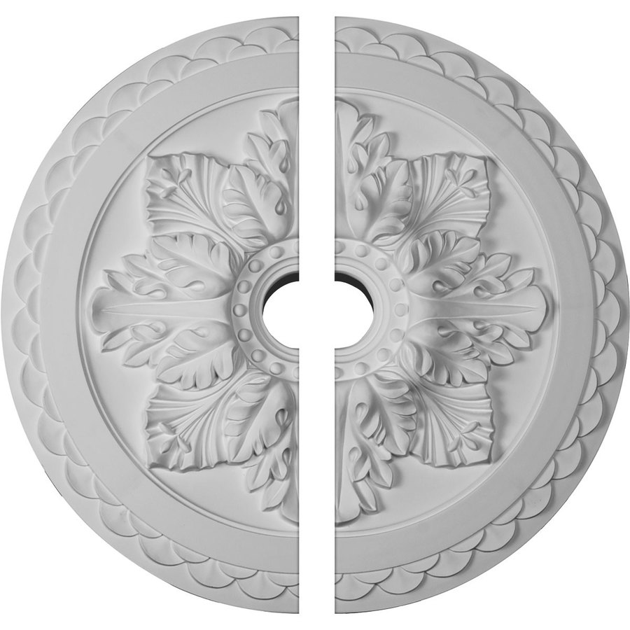 Ekena Millwork Bordeaux Deluxe 23.625-in x 23.625-in Urethane Ceiling Medallion