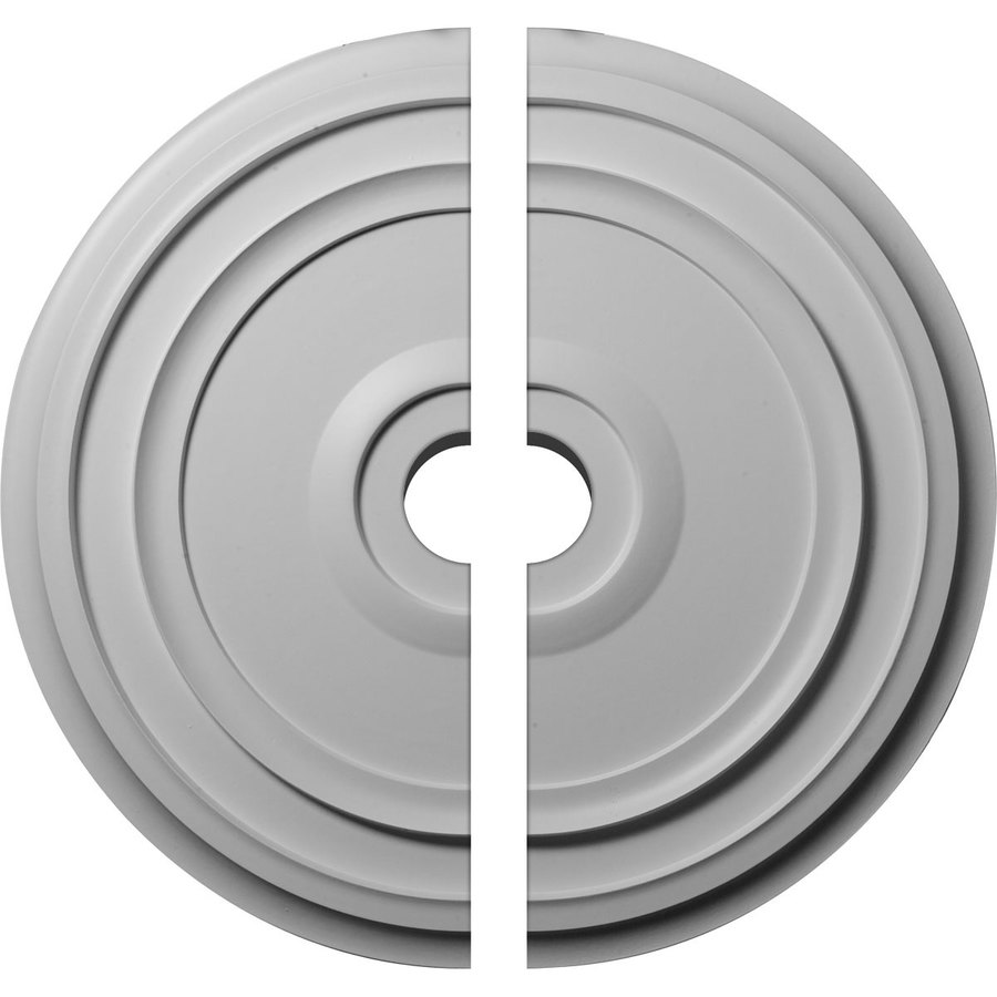 Ekena Millwork Reece 24.375-in x 24.375-in Urethane Ceiling Medallion