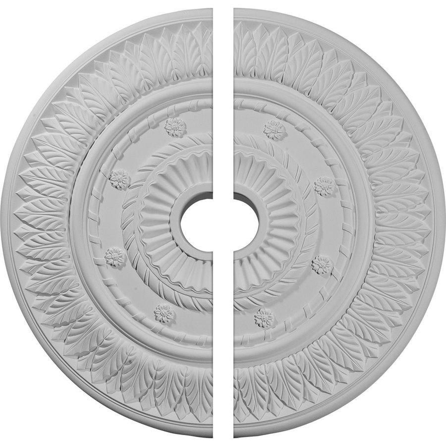 Ekena Millwork Leaf 26.75-in x 26.75-in Urethane Ceiling Medallion