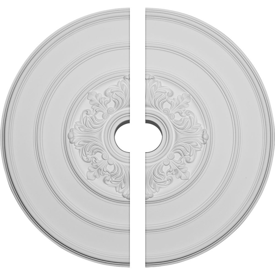 Ekena Millwork Traditional with Acanthus Leaves 26-in x 26-in Urethane Ceiling Medallion