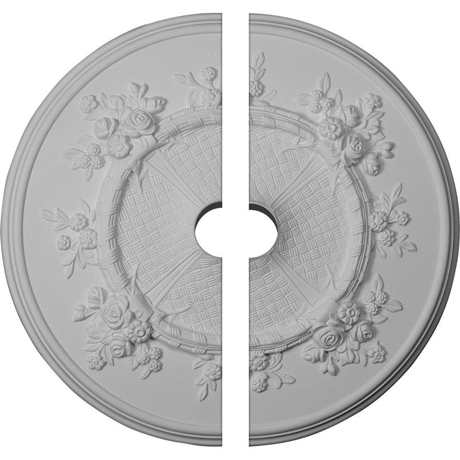Ekena Millwork Flower 27-in x 27-in Urethane Ceiling Medallion