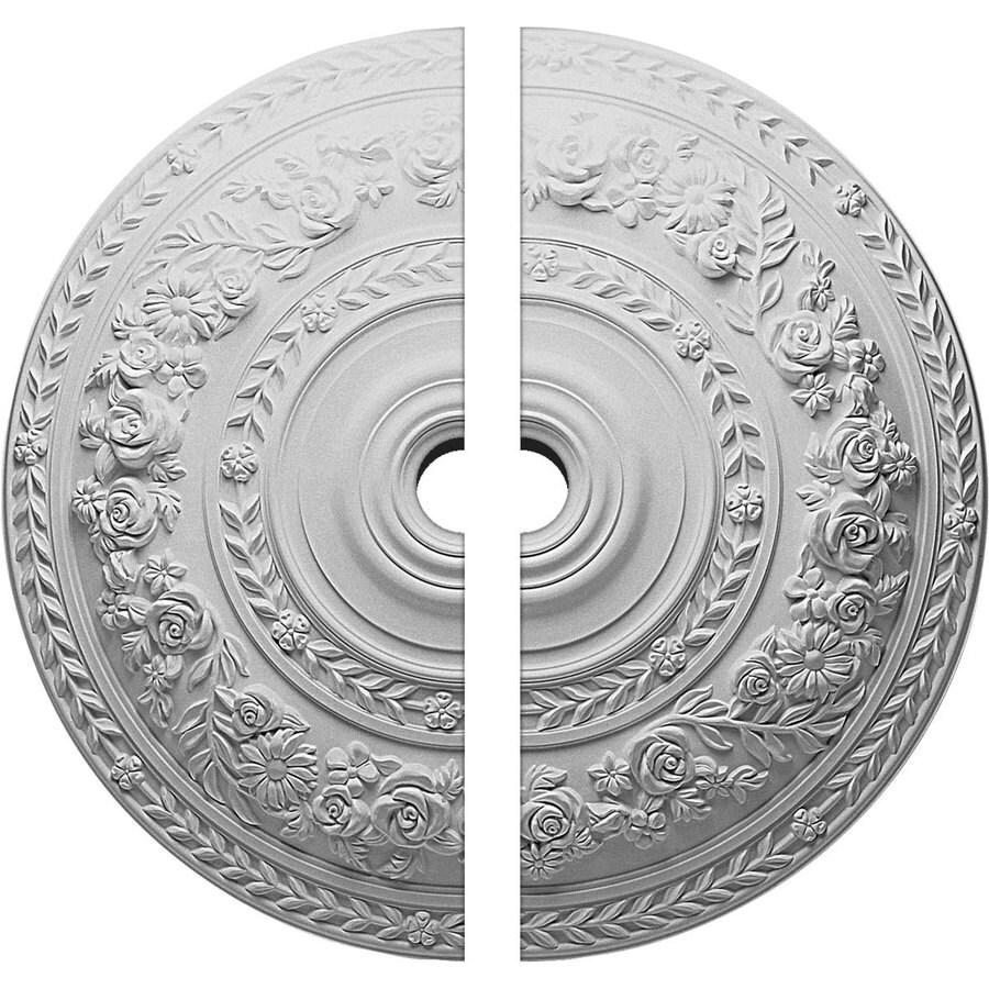 Ekena Millwork Rose 33.875-in x 33.875-in Urethane Ceiling Medallion