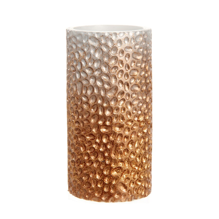 Holiday Living 6-in Battery-Operated Copper Electric Jar Candle with Timer