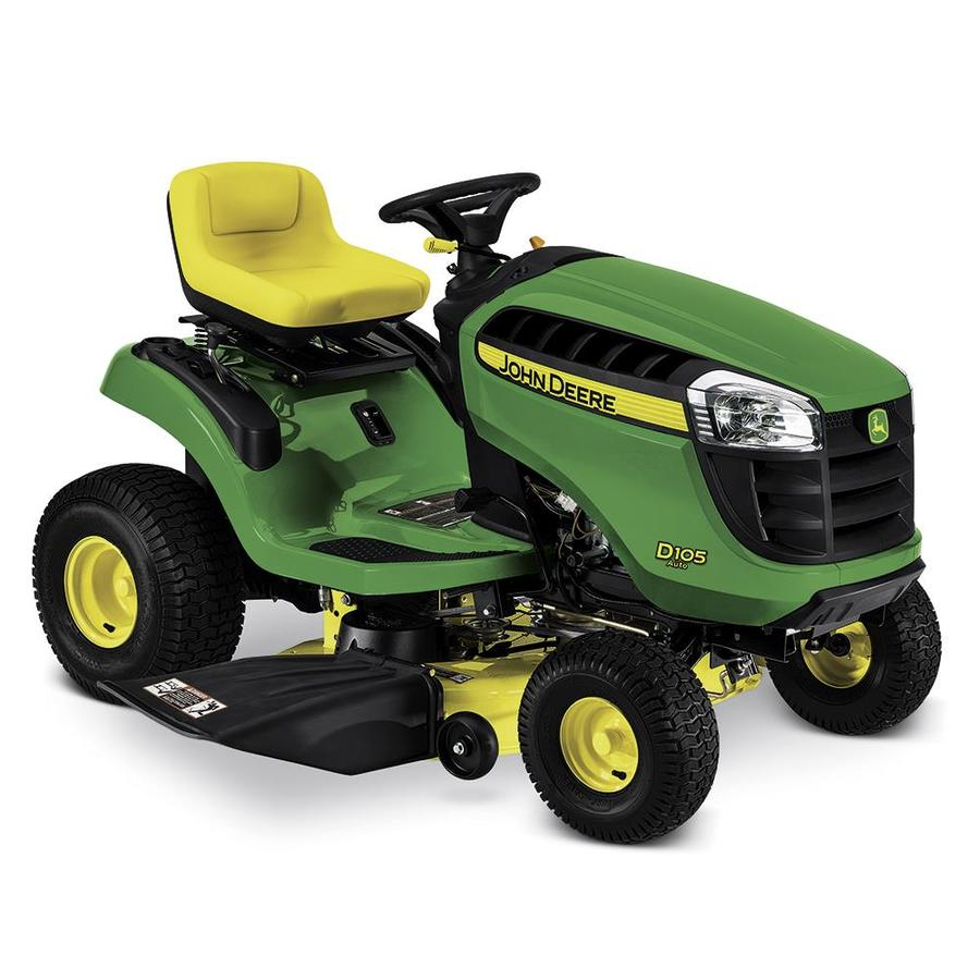 John Deere D105 17.5-HP Automatic 42-in Riding Lawn Mower Mulching Capable  in the Gas Riding Lawn Mowers department at Lowes.com