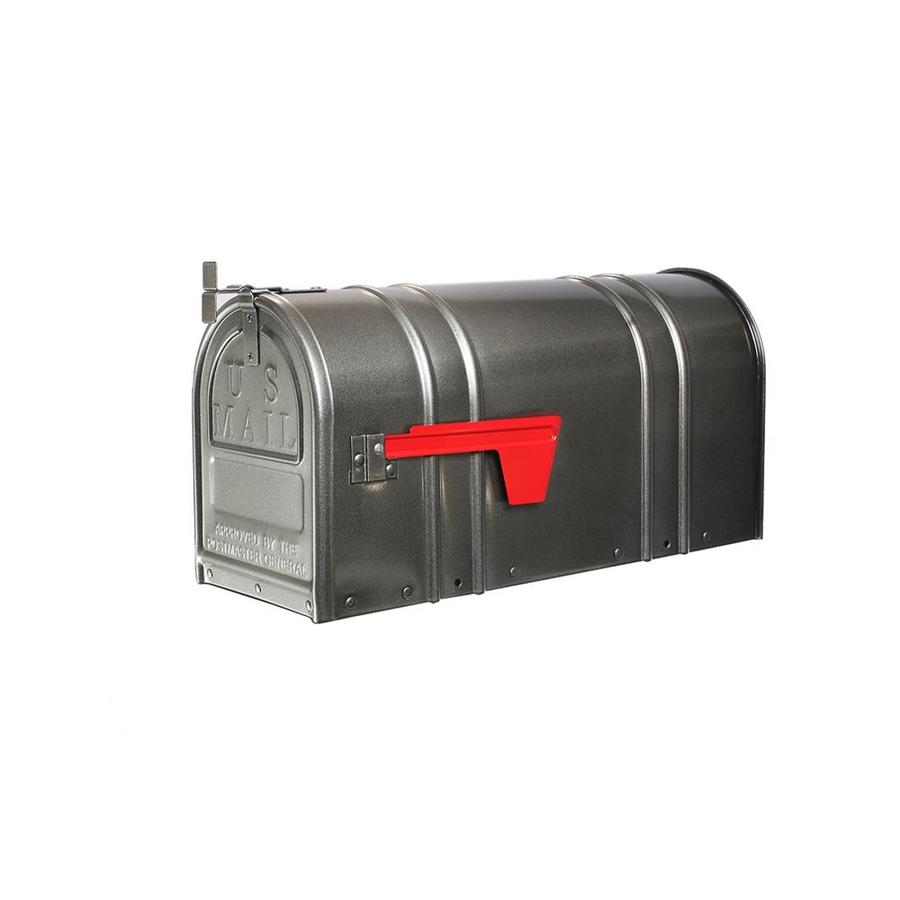 Postal Pro The Carlton 8.5-in x 11-in Metal Metallic Pewter Silver Post Mount Mailbox