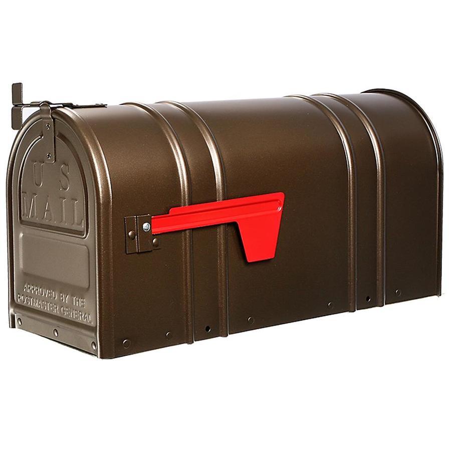 Postal Pro 8.5-in x 11-in Metal Antique Bronze Post Mount Mailbox