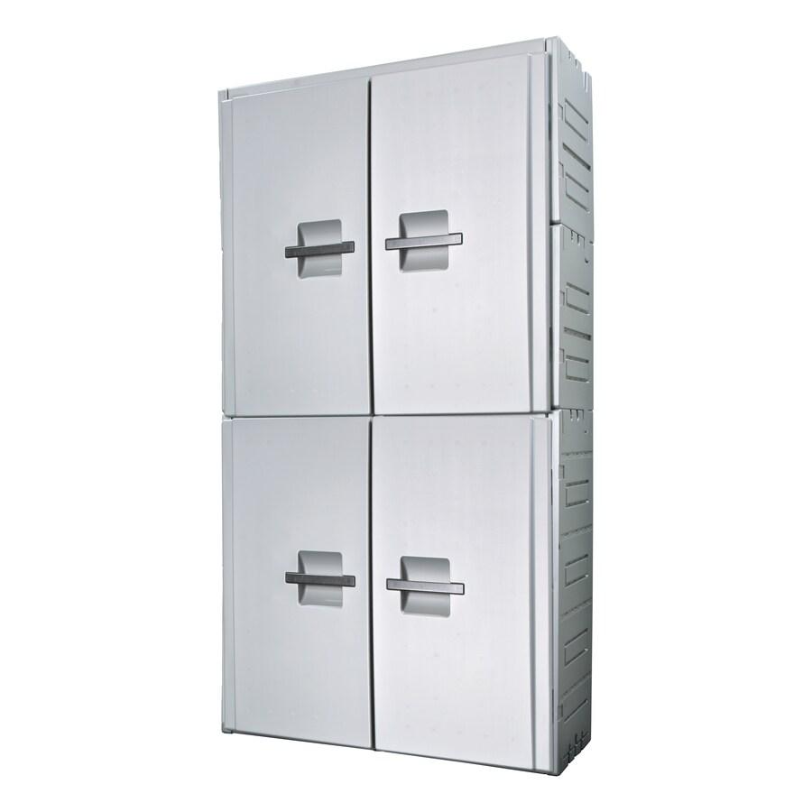 Inter-LOK 45-in W x 84-in H x 16-in D Gray Storage Locker