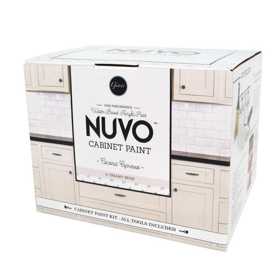 Nuvo 62-fl oz Interior Satin Kitchen and Bath Cream Water-Base Paint and Primer in One