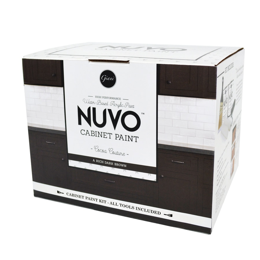 Nuvo Deep Brown Satin Water-Based Interior Paint and Primer in One (Actual Net Contents: 62-fl oz)