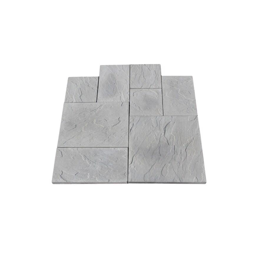 Nantucket Pavers 12-ft x 12-ft Gray Random Rivenstone Paver Patio Block Project Kit