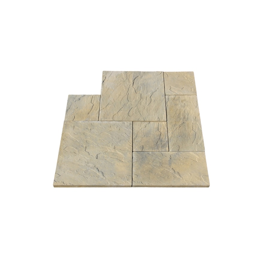 Nantucket Pavers 12-ft x 12-ft Tan Variegated Dutch Rivenstone Paver Patio Block Project Kit