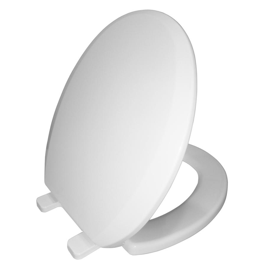 AquaSource White Plastic Round Slow Close Toilet Seat