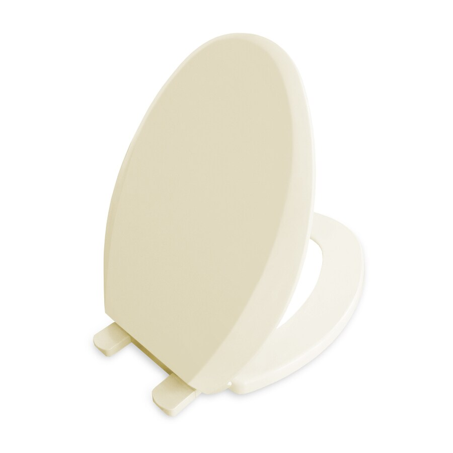 AquaSource Biscuit Plastic Elongated Slow Close Toilet Seat