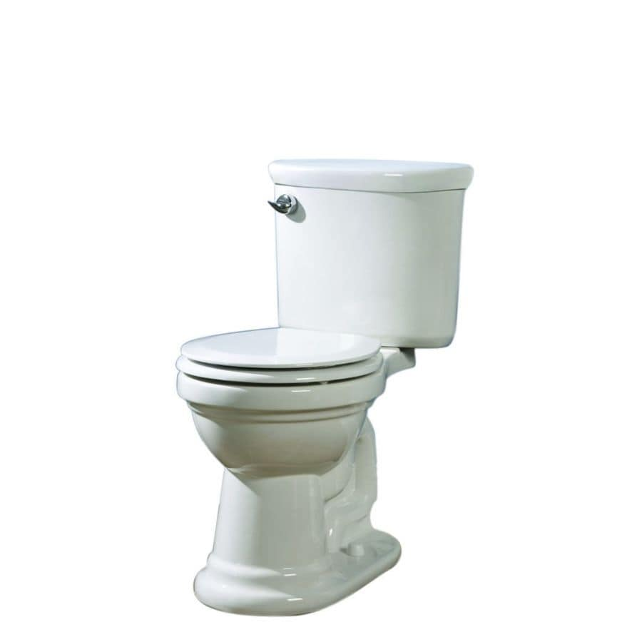 AquaSource White 1.28-GPF (4.85-LPF) 12-in Rough-in WaterSense Round 2-Piece Comfort Height Toilet