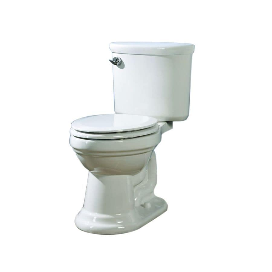 AquaSource Dreyton White 1.28-GPF (4.85-LPF) 12 Rough-In WaterSense Elongated 2-Piece Comfort Height Toilet