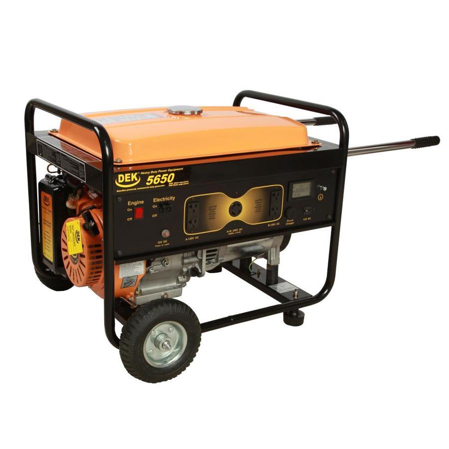 DEK Pro 5,650-Running Watts Portable Generator with Dek Engine