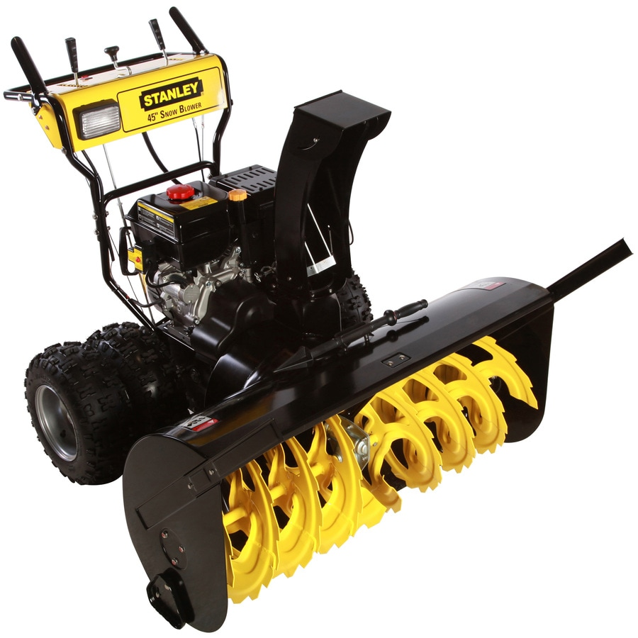 Stanley 420-cc 45-in Two-Stage Electric Start Gas Snow Blower with Headlight