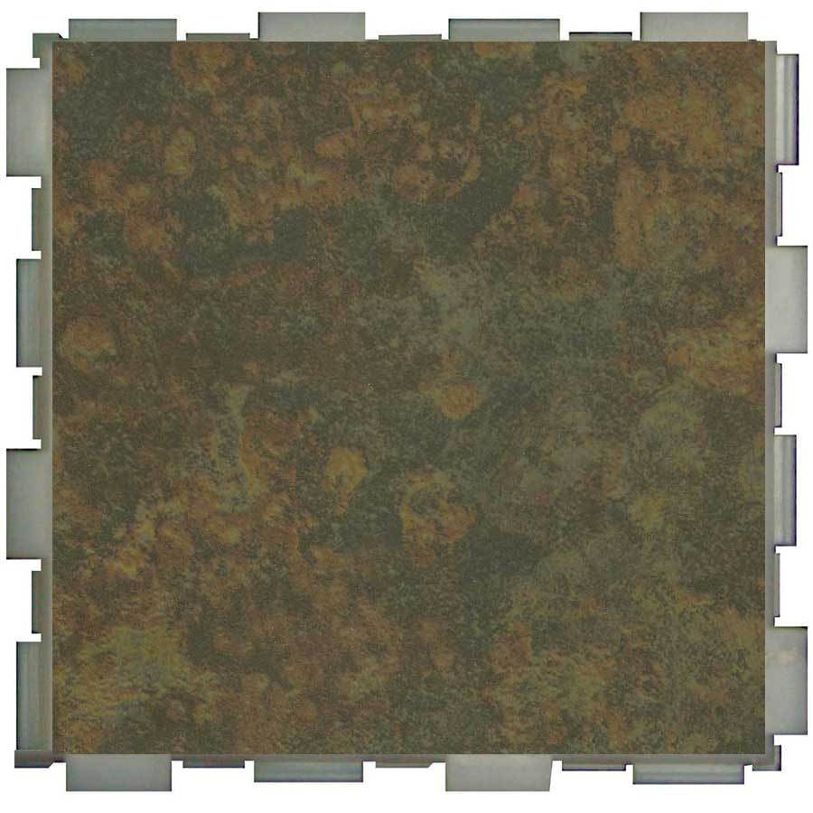 SnapStone Interlocking 12-Pack Moss Porcelain Floor Tile (Common: 6-in x 6-in; Actual: 6-in x 6-in)