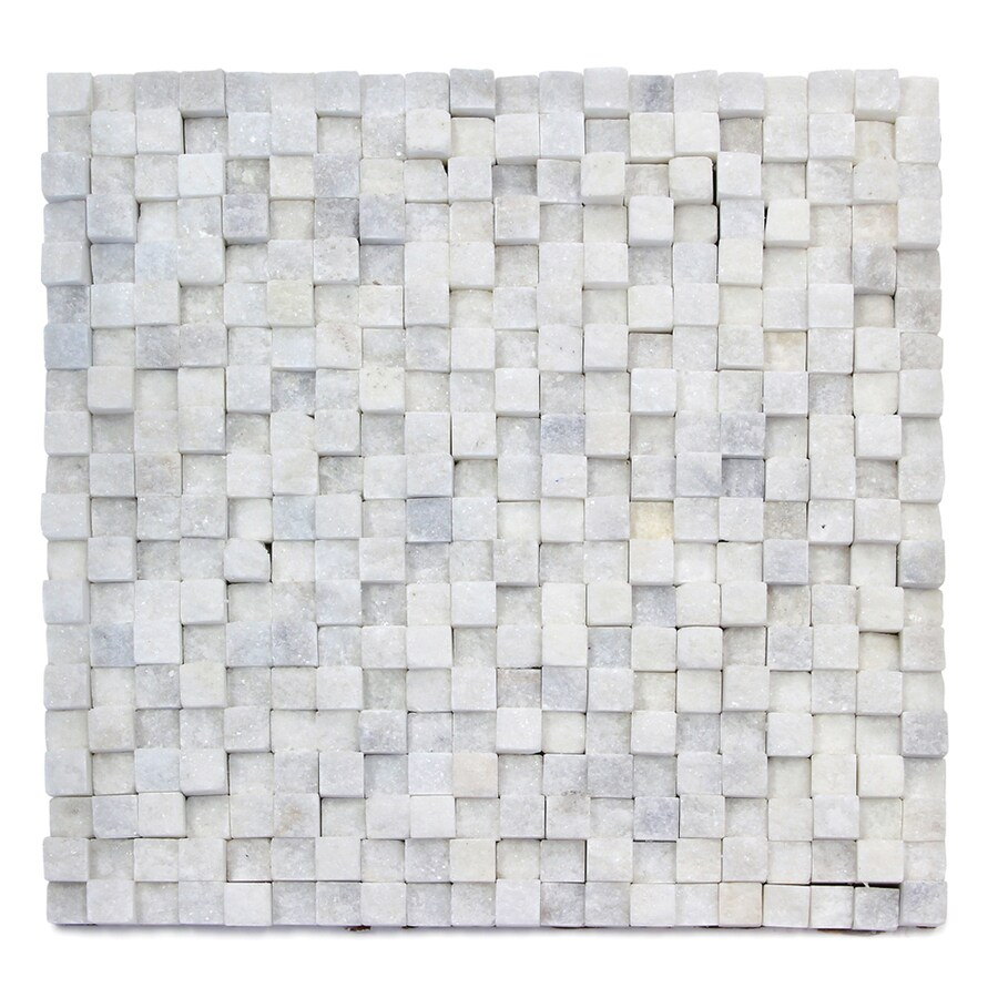 Solistone 5-Pack Cubist Salon Split Face Natural Stone Mosaic Square Indoor/Outdoor Wall Tile (Common: 12-in x 12-in; Actual: 12-in x 12-in)