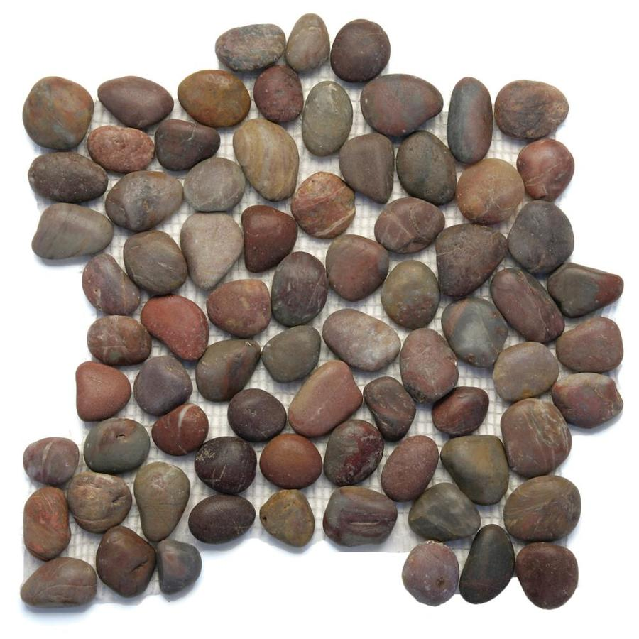 Solistone Anatolia Pebbles 10-Pack Honed Agate Mosaic Floor Tile (Common: 12-in x 12-in; Actual: 12-in x 12-in)