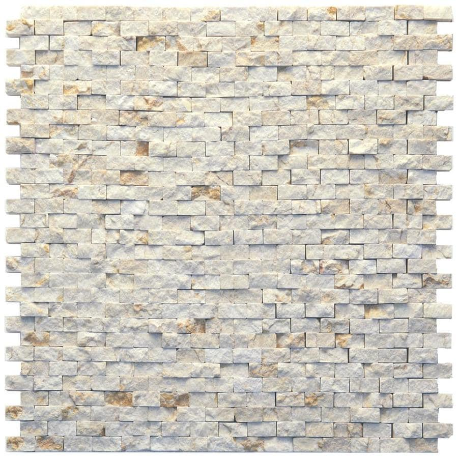 Solistone Modern 10-Pack Still Life Subway Mosaic Marble Wall Tile (Common: 12-in x 12-in; Actual: 12-in x 12-in)