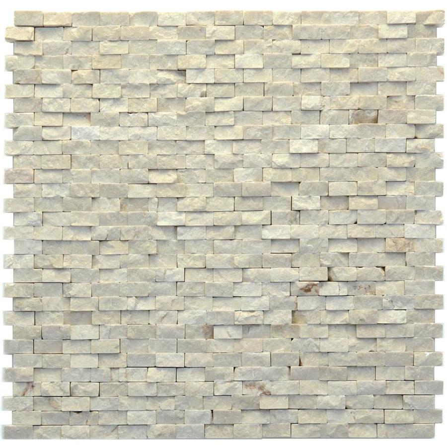 Solistone Modern 10-Pack Fauve Subway Mosaic Marble Wall Tile (Common: 12-in x 12-in; Actual: 12-in x 12-in)