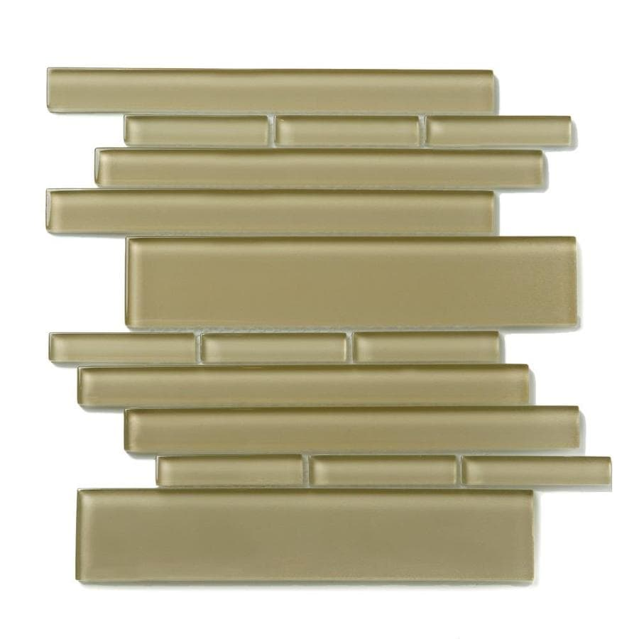 Solistone Piano Glass 10-Pack Sonata Linear Mosaic Glass Wall Tile (Common: 9-in x 10-in; Actual: 9.5-in x 10.5-in)