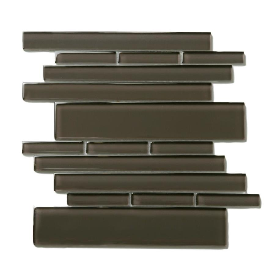 Solistone Piano Glass 10-Pack Rhythm Linear Mosaic Glass Wall Tile (Common: 9-in x 10-in; Actual: 9.5-in x 10.5-in)