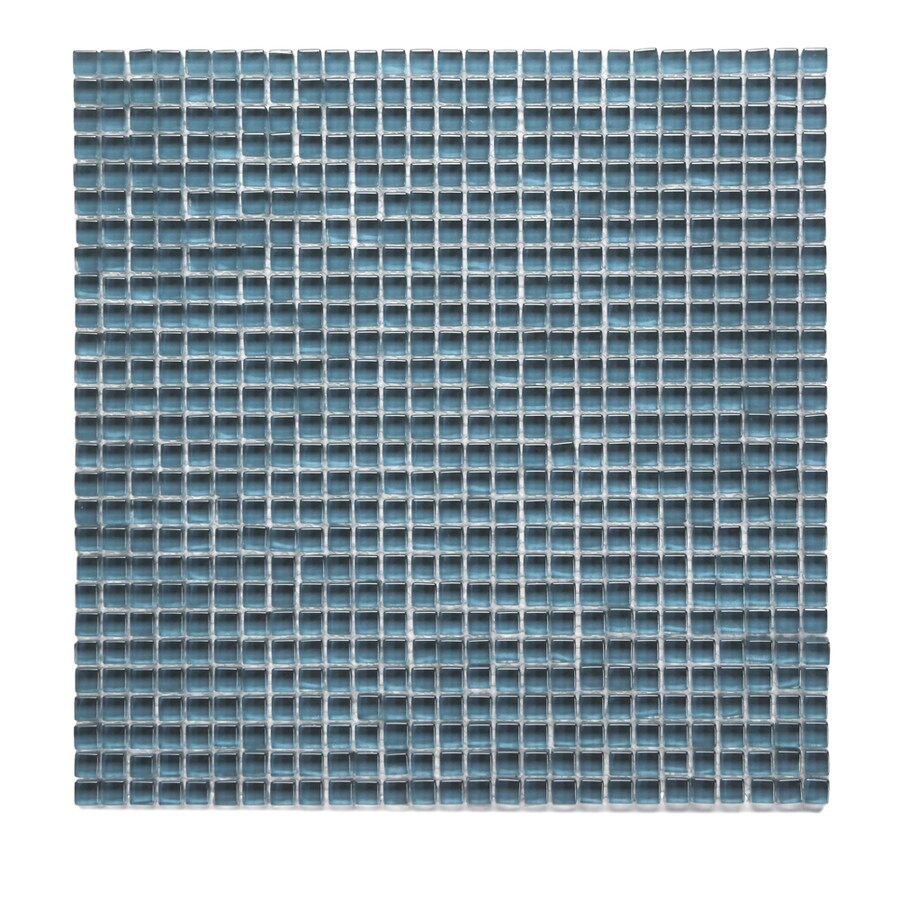 Solistone Atlantis Glass 10-Pack Dorado Polished Uniform Squares Mosaic Glass Wall Tile (Common: 12-in x 12-in; Actual: 11.75-in x 11.75-in)
