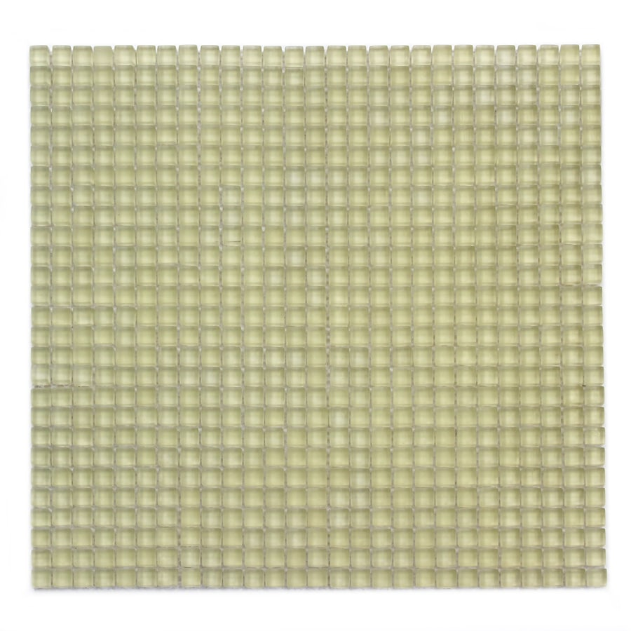 Solistone Atlantis Glass 10-Pack Moray Frosted Uniform Squares Mosaic Glass Wall Tile (Common: 12-in x 12-in; Actual: 11.75-in x 11.75-in)