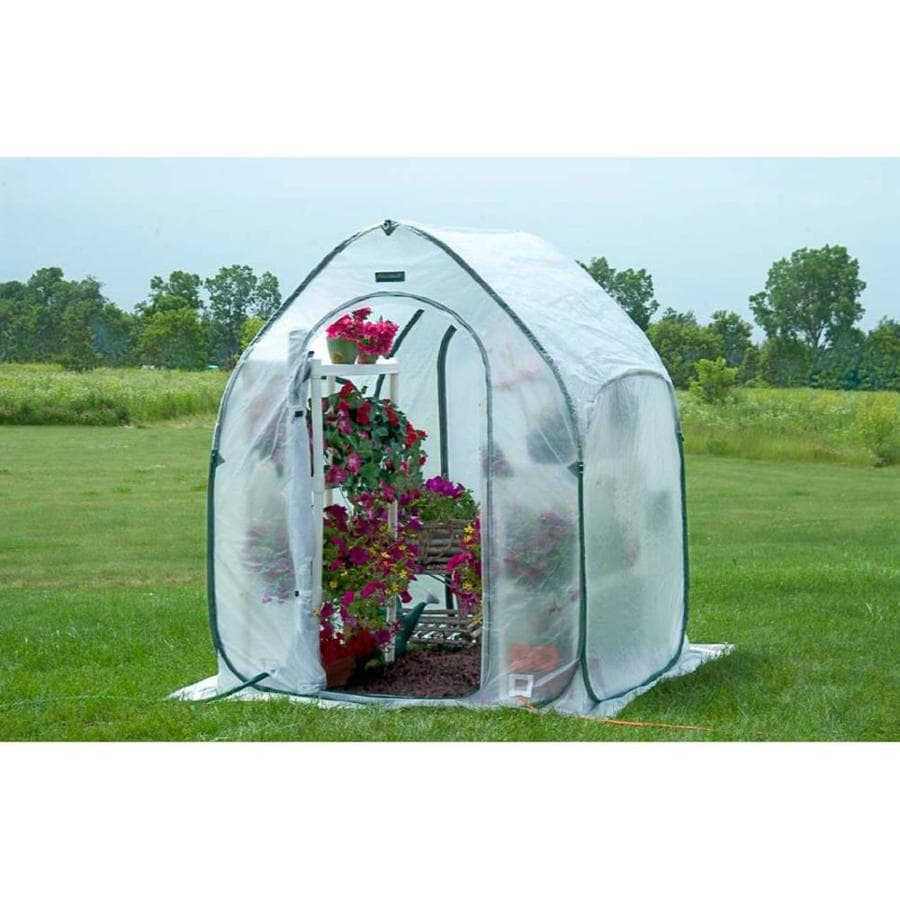 Flowerhouse 5-ft L x 5-ft W x 6.5-ft H Poly Sheeting Greenhouse