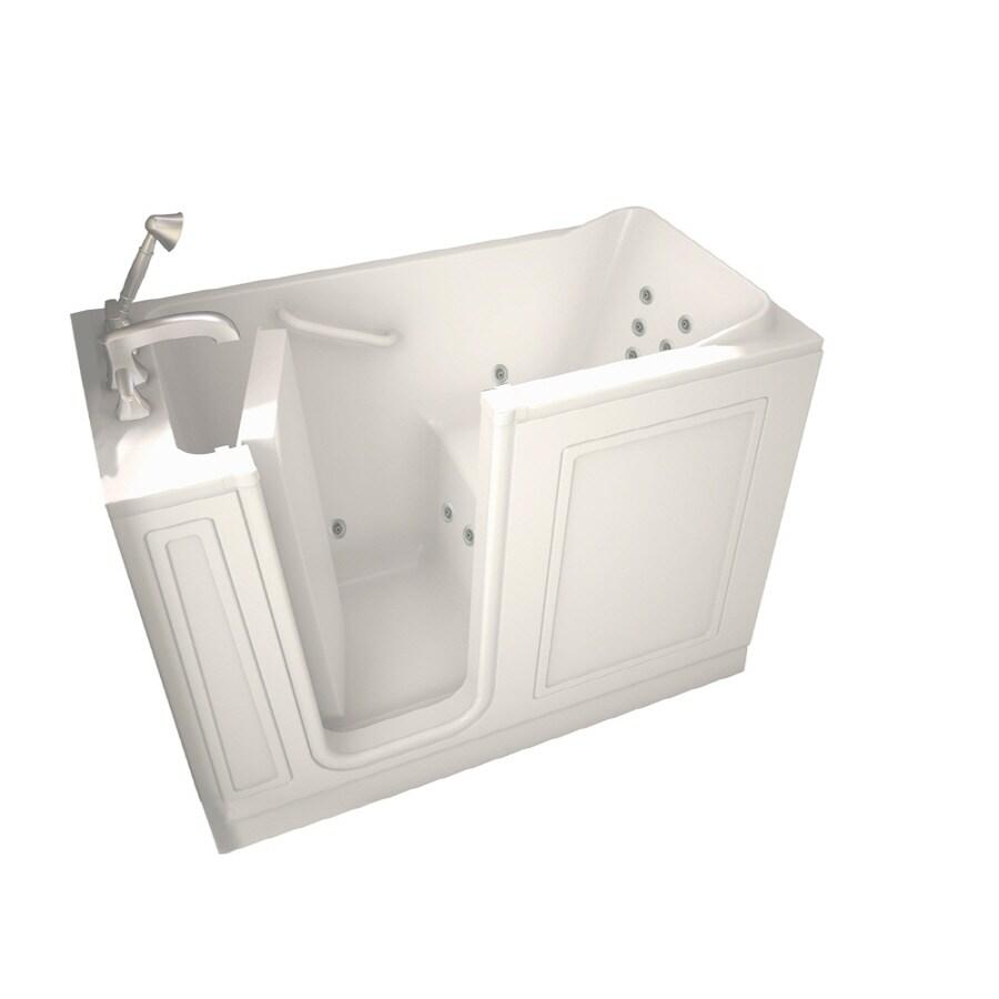 American Standard Walk-In Baths Walk-in Baths White Gelcoat and Fiberglass Rectangular Walk-in Whirlpool Tub (Common: 28-in x 48-in; Actual: 37-in x 28-in x 48-in)