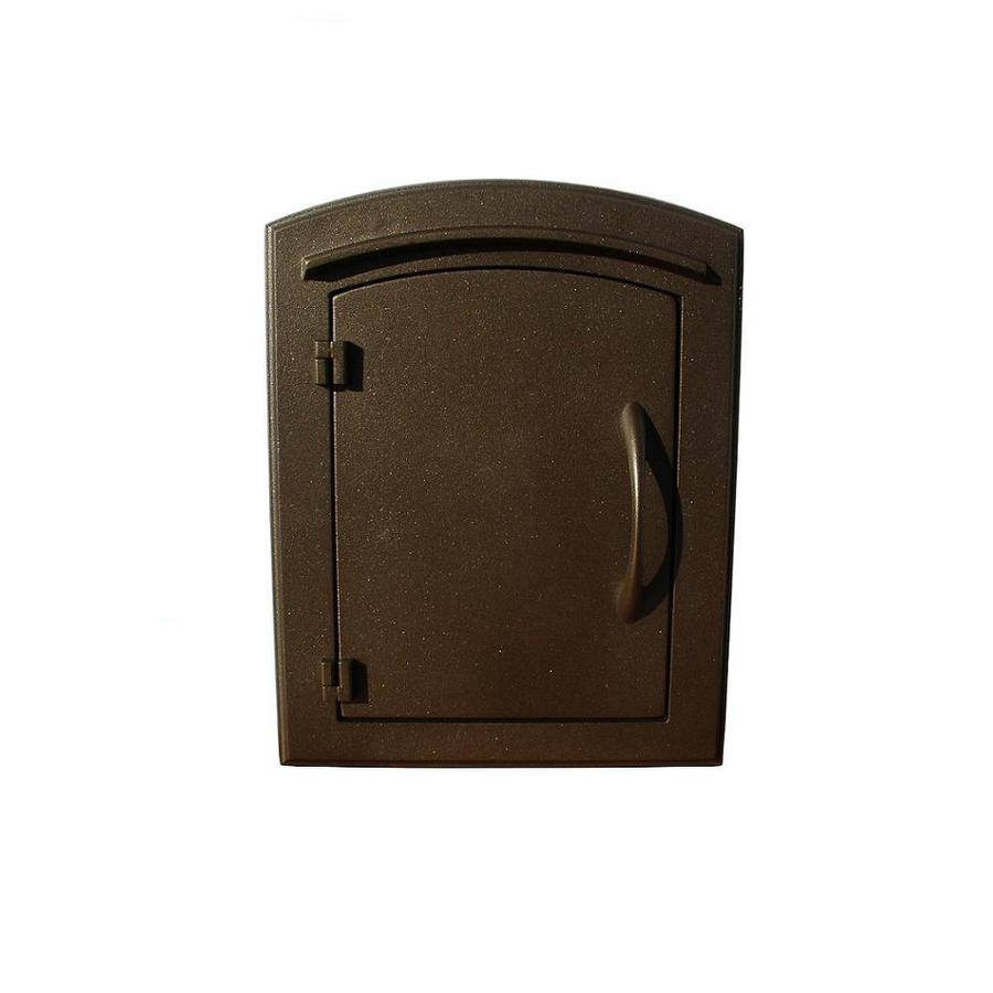 Custom Home Accessories 8.5-in x 12-in Metal Bronze Wall Mount Mailbox