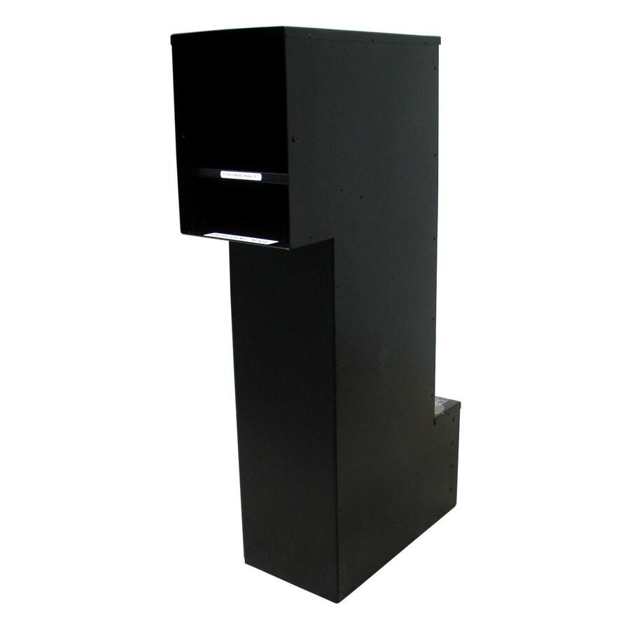 Custom Home Accessories 8.5-in x 36.5-in Metal Black Lockable Wall Mount Mailbox