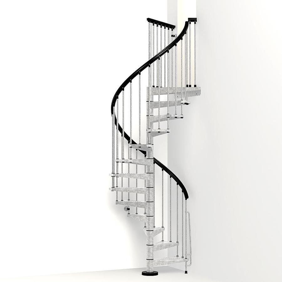 Arke Enduro 47-in x 10-ft Gray Spiral Staircase Kit