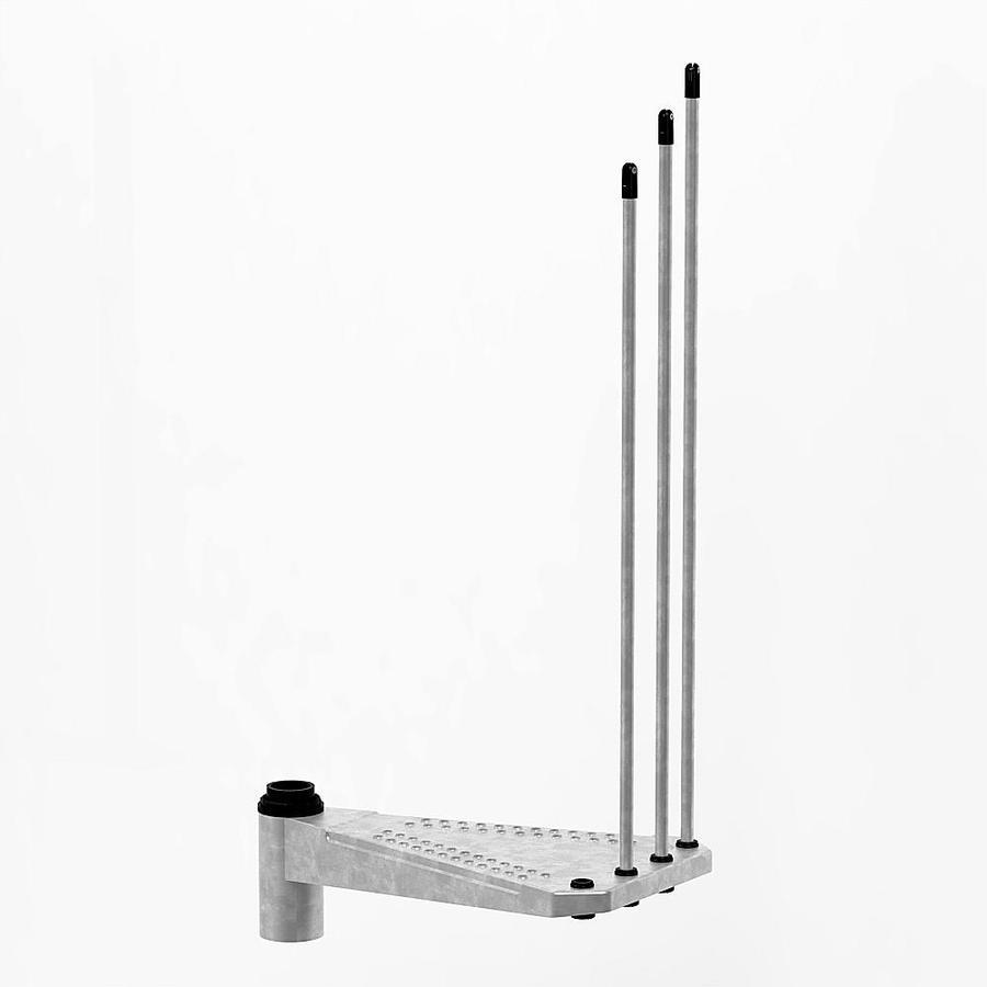 Arke Enduro 28.5-in x 17.3-in Galvanized Unfinished Galvanized Steel Stair Riser