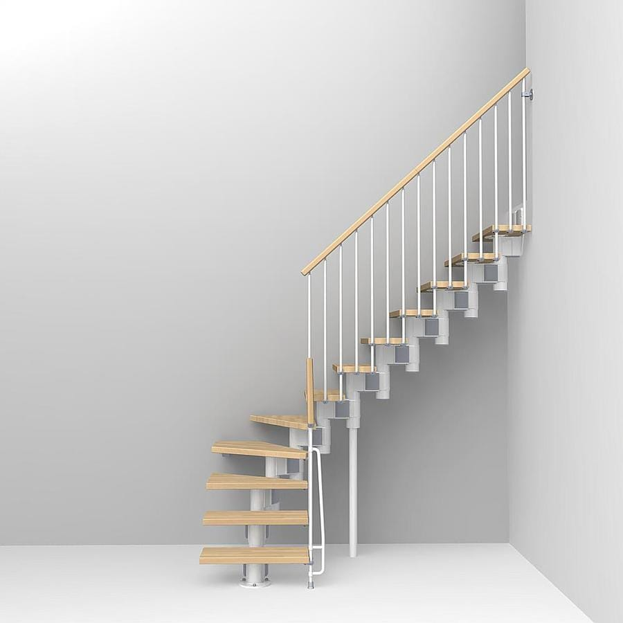 Arke Kompact x 9.9-ft White Modular Staircase Kit
