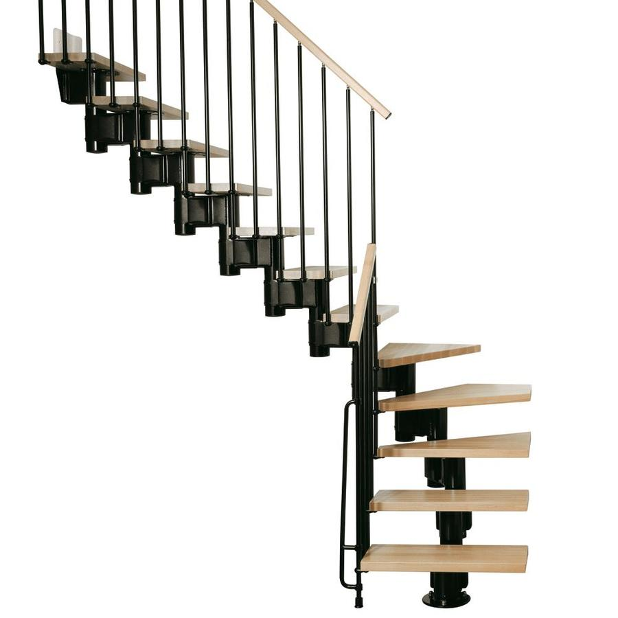 Arke Kompact x 9.9-ft Black Modular Staircase Kit