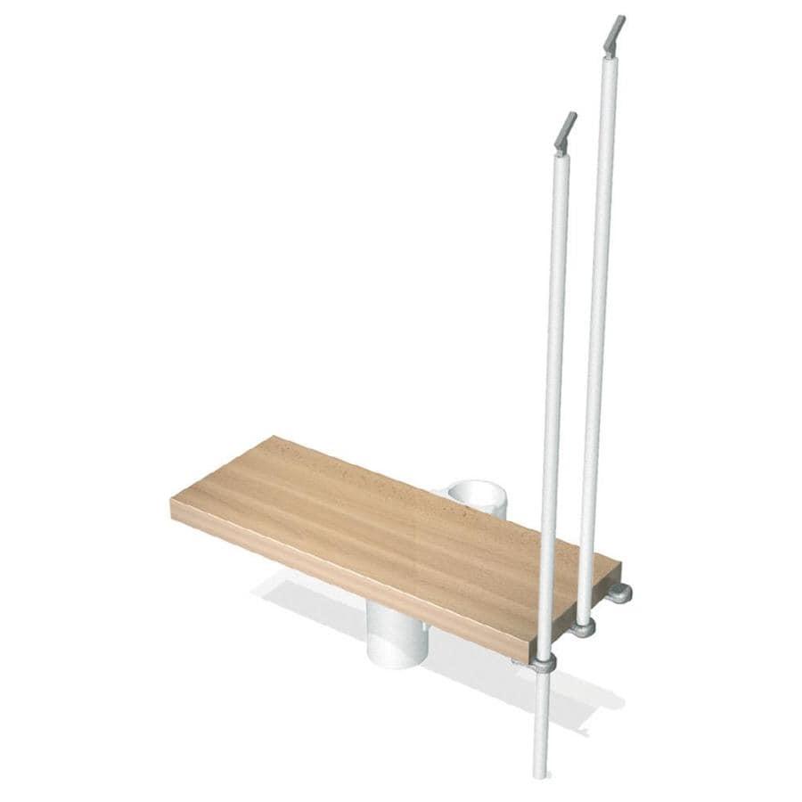 Arke Kompact 33.5-in x 12.25-in White Stained Beechwood Steel Stair Riser