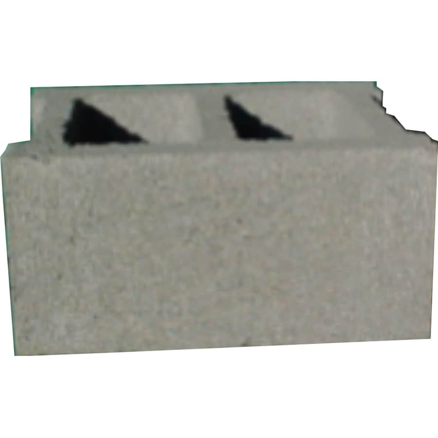 Lee Masonry Standard Cored Concrete Block (Common: 12-in x 8-in x 16-in; Actual: 11.625-in x 7.625-in x 15.625-in)