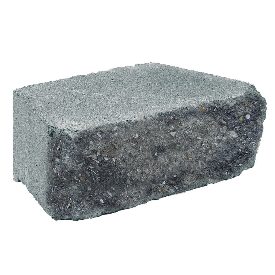 Grey/Charcoal Chiseled Concrete Retaining Wall Block (Common: 12-in x 4-in; Actual: 11.7-in x 4-in)