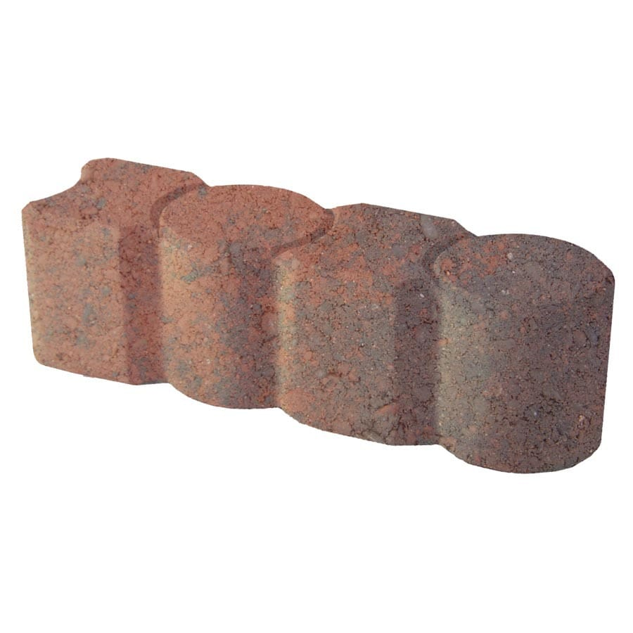 Red/Charcoal Geometric Concrete Edging Stone (Common: 3-in x 12-in; Actual: 3.1-in H x 12-in L)