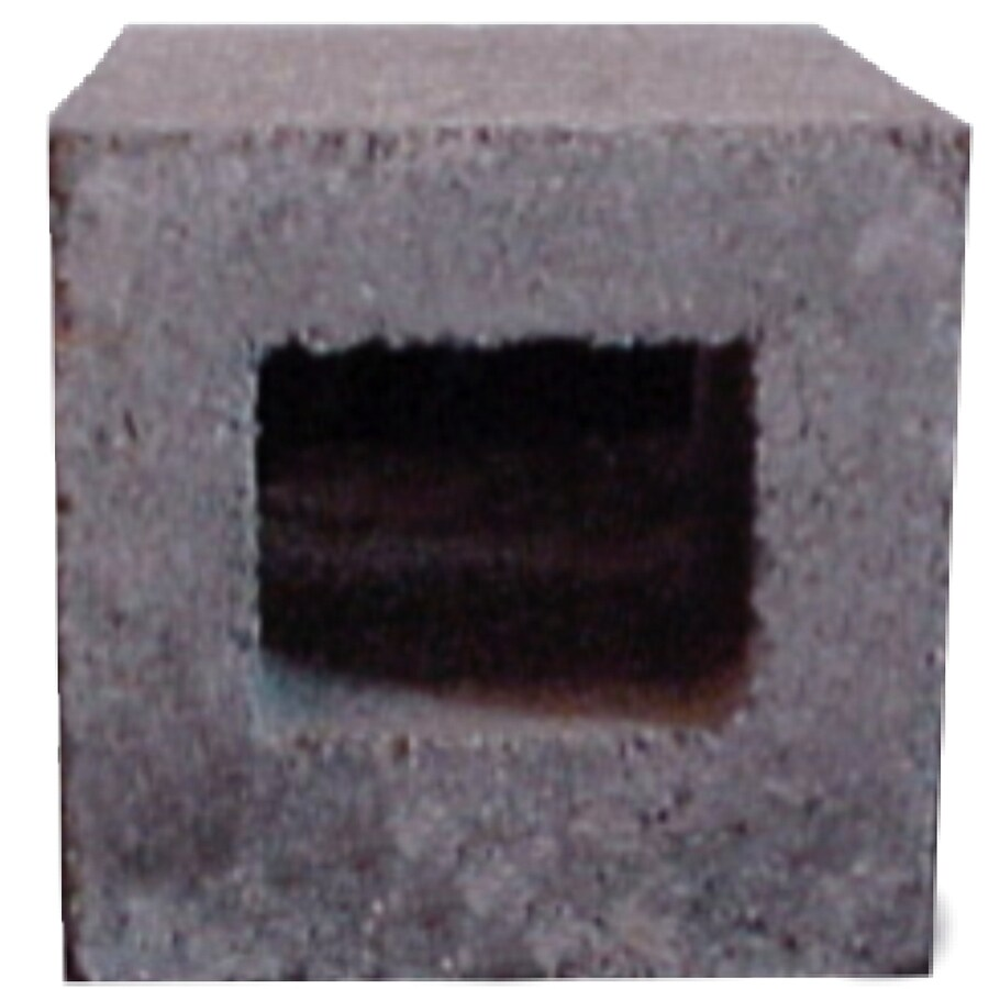 Half Cored Concrete Block (Common: 8-in x 4-in x 16-in; Actual: 7.625-in x 3.625-in x 15.625-in)