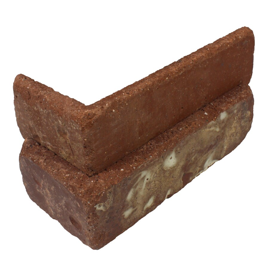 Old Mill Thin Brick Systems Colonial 25-Pack 2.25-in x 7.625-in Boston Mill Outside Corner Block Brick Veneer Trim
