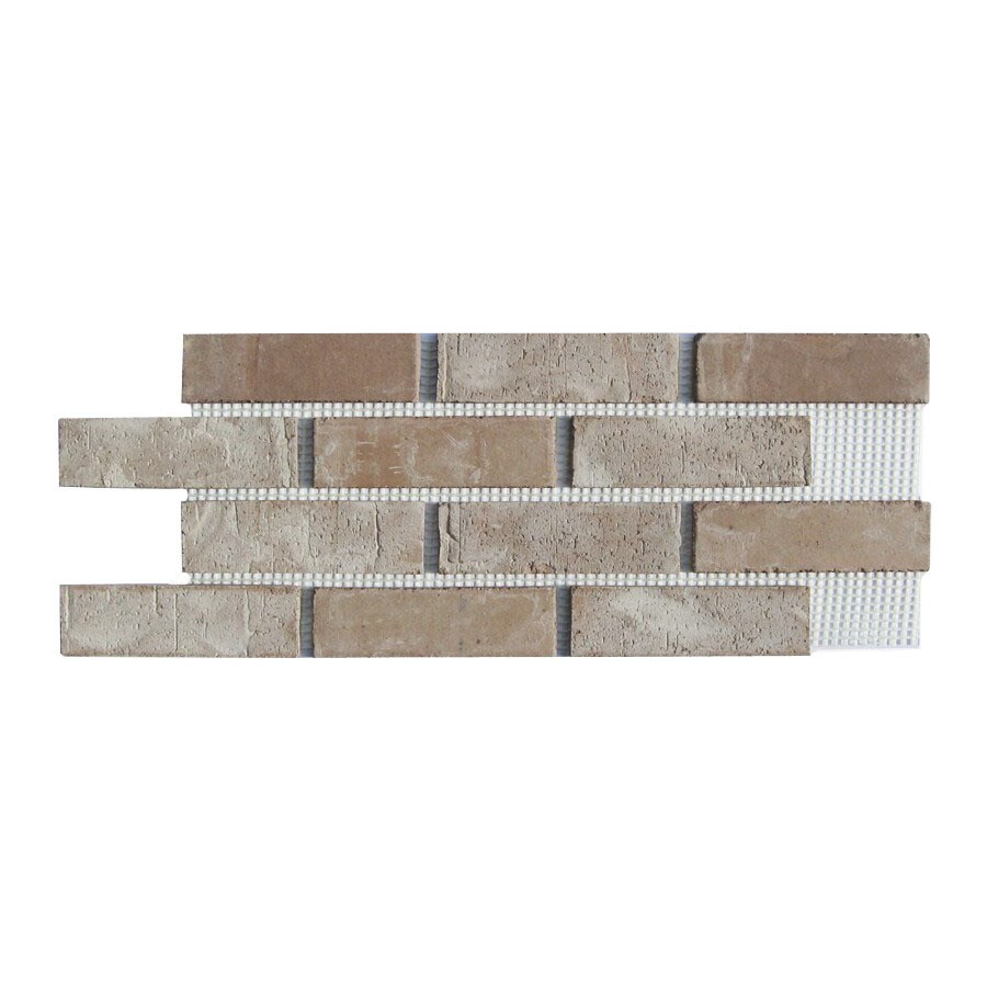 Shop brickweb brickweb 10 5 in x 28 in little cottonwood for 1 2 inch brick veneer