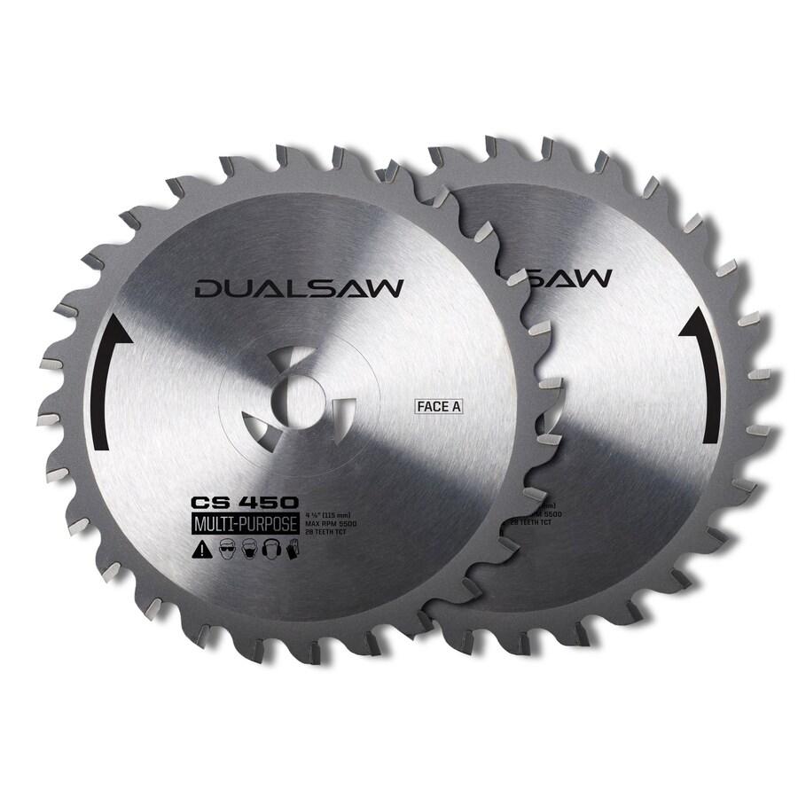 DualSaw Dual 2-Pack 4-1/2-in. All Purpose Circular Saw Blade Set